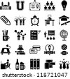 College icons - stock vector