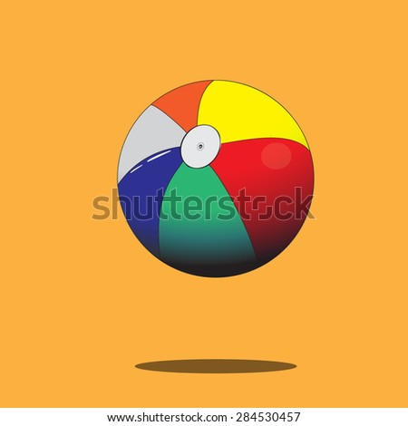 Color ball.Vector illustration.