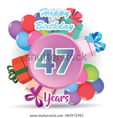 77th years greeting card anniversary colorful stock vector for Th background color
