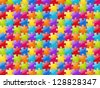 Color glossy puzzle background - vector illustration - stock vector