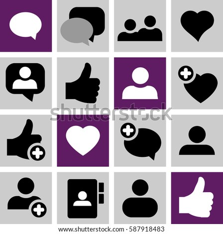 social media icons speech bubbles group stock vector 156399695 shutterstock. Black Bedroom Furniture Sets. Home Design Ideas