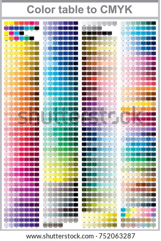 color test page print - cmyk press color chart stock vector 343942829 shutterstock