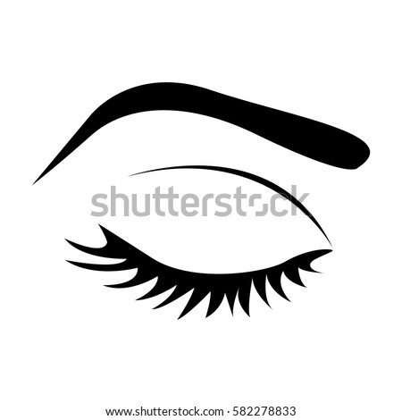 silhouette eye lashes eyebrow closed vector stock vector Rustic Flower Clip Art Cartoon Eyes