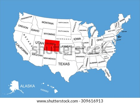 Ohio State Usa Vector Map Isolated Stock Vector - State map of us ohio to colorado
