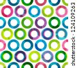 colored circles seamless pattern - stock vector