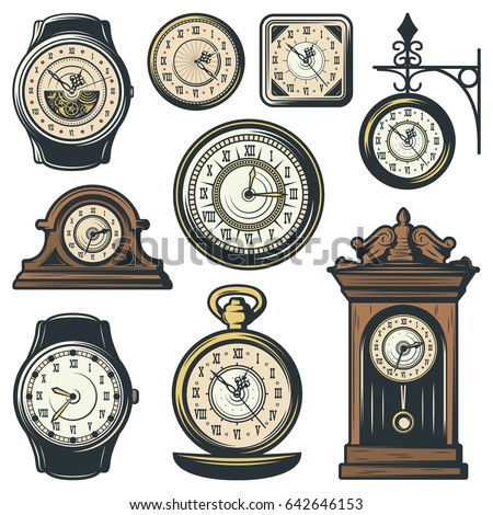 Clock Time Timepiece Antique Vintage Ancient Stock