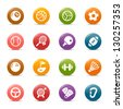 Colored Dots - Sport icons - stock vector