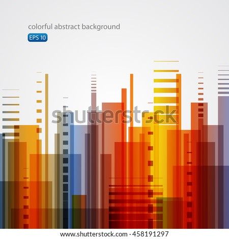 Colorful abstract background - city, equalizer, dynamic.