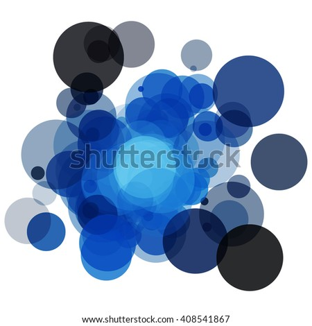 Colorful abstract background is created from circles. Simple elements of design for creation of more difficult ideas.