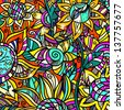 Colorful abstract floral background - vector - stock vector