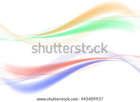 Colorful bright waves