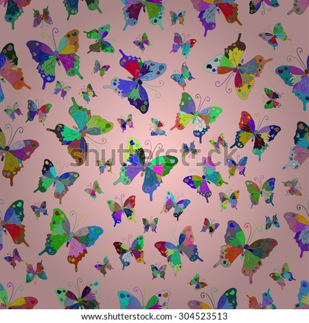 colorful butterfly vector pattern