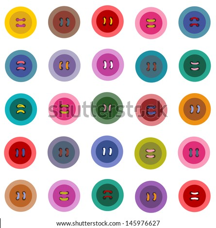 Colorful Buttons Seamless Pattern. Vector EPS 8 graphic pattern illustration.