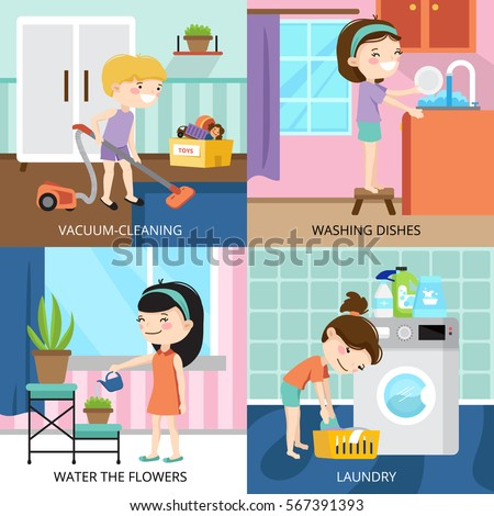 Happy family watching tv having dinner stock vector for Pictures of clean homes