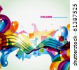 colorful celebration style background. eps10 vector - stock vector