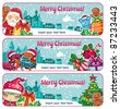 Colorful Christmas banners. Merry Christmas and Happy new year! - stock photo