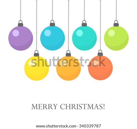 Colorful Christmas baubles background. Vector illustration