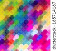 Colorful dots abstract vector art background with vibrant tones - stock photo