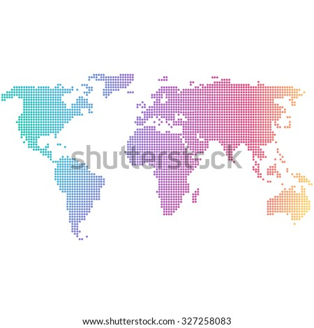 World map web design stock illustration 730555117 shutterstock colorful dotted world map gumiabroncs Images