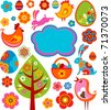 Colorful Easter icons and graphic elements - stock vector