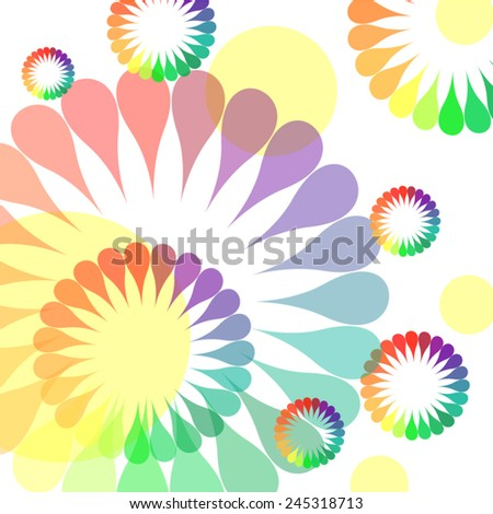Colorful firework flower background