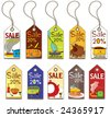 Colorful food tags. To see similar, please VISIT MY GALLERY.   - stock vector