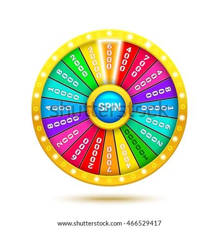 Wheel Fortune Stock Vector 97625003 - Shutterstock