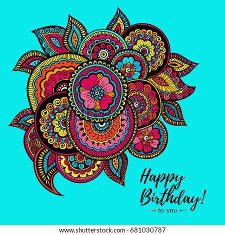 Vector Illustration Greeting Card Poster Banner Vector – Indian Birthday Cards