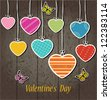 Colorful Hart Valentines Day.Vector - stock vector