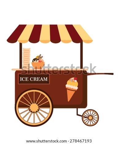 Popcorn Cart Carnival Store Fun Festival Stock Vector 397006183 ...
