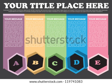 Colorful layout with area for own copy. Vector illustration.