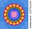 Colorful mandala - stock vector