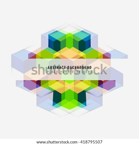 Colorful modern cubic background