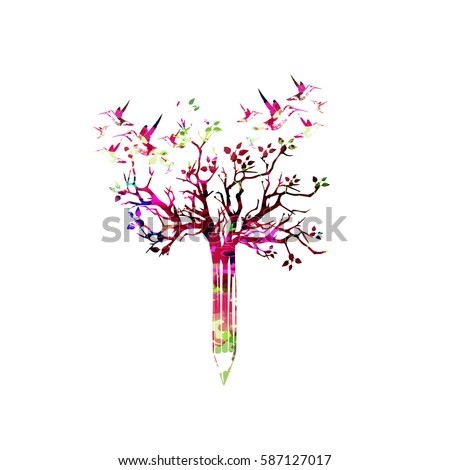 Colorful music notes butterflies isolated vector stock for Assignment first page decoration