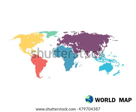 Colorful Political World Map Illustration