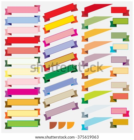 Colorful ribbon and banner vector
