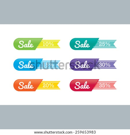 Colorful Sale Ribbons