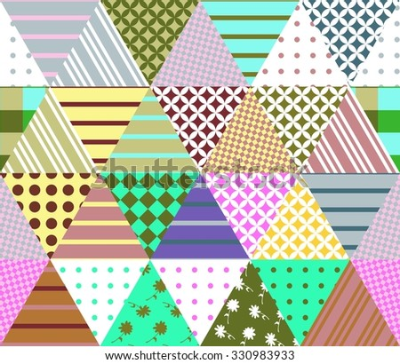 Triangle Quilt Pattern Texture Photos : Vector Patchwork Quilt Pattern Vintage Decorative Stock Vector 579431530 - Shutterstock