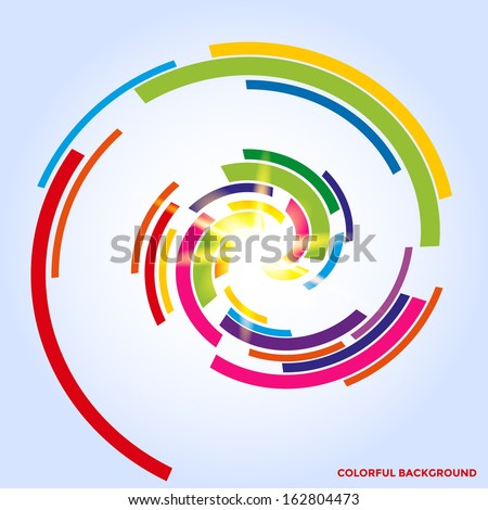 Colorful spiral background. Vector eps10