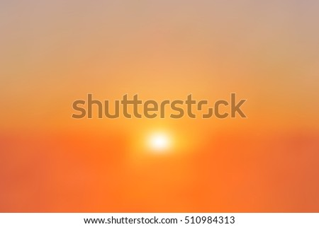 Colorful sunset or sunrise sky illustration