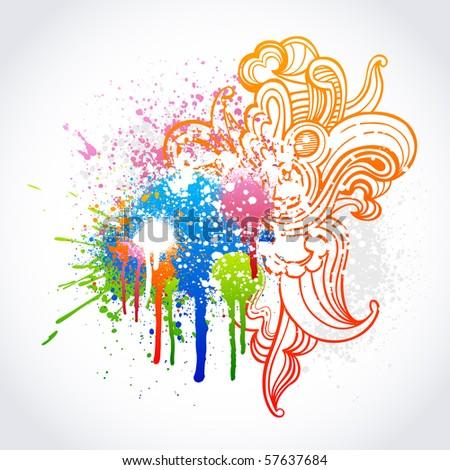 Fascinating paint splatter vector photos