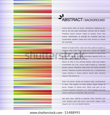Colorful template with colorful bar-code
