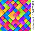 Colorful tile fragment seamless background pattern, eps10 vector - stock vector