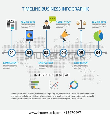 Design Template Creative Business Timeline Vector Stock Vector