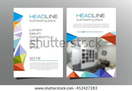 Greyred Brochure Flyer Template Design Vector Stock Vector
