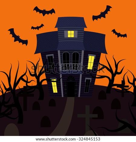Vampire Bat Flying On Full Moon Vector 723574093 Shutterstock – Scary or Horror Invitation Cards