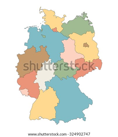 Simple Map Germany Stock Vector Shutterstock - Germany map states