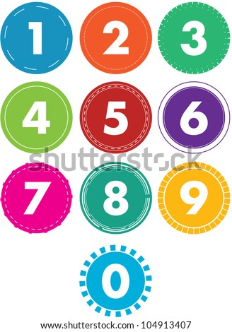 Colorful Vector Numbers