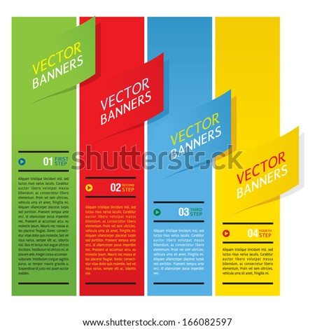 Colorful Vertical Banners Vector