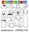 Coloring book clothes theme 1 - vector illustration. - stock vector
